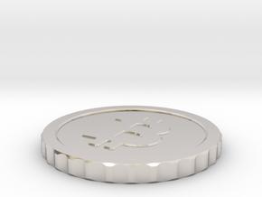 Bitcoin, 26 mm diameter in Platinum