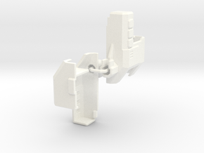 TR Overlord Forearm Adaptor (both sides) in White Processed Versatile Plastic