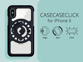 for iPhone X : core : CASECASE CLICK in Black Strong & Flexible