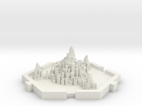 Ciudad espacial in White Natural Versatile Plastic