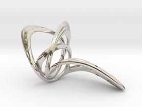 Looplooploop Ring Size US 8.0 in Platinum