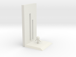 bookend in White Natural Versatile Plastic