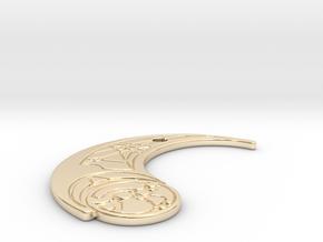 TLJ Pendant (Single) in 14k Gold Plated Brass