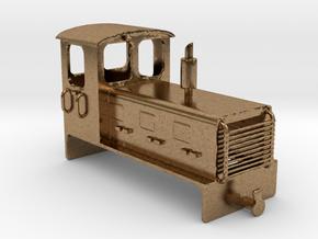 Welsh Highland Rly diesel shunter loco NO.9 in Natural Brass