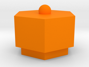 box in Orange Processed Versatile Plastic