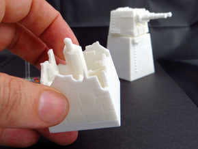 TURBOLASER TOWER DESTROYED 1/270 in White Natural Versatile Plastic