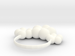 hair ring in White Processed Versatile Plastic