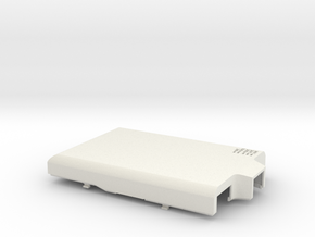 Raspberry Pi B case - top in White Natural Versatile Plastic