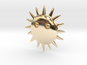 Sun ornaments in 14k Gold Plated Brass