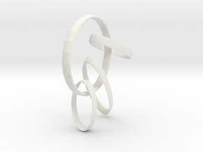B13 RING in White Natural Versatile Plastic