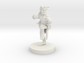 Halfling Monk with Kusarigama in White Natural Versatile Plastic