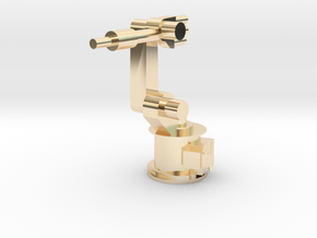 4-Axis Industrial Robot V01 in 14k Gold Plated Brass