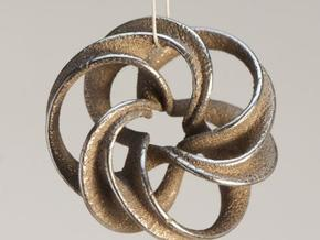 Scherk Minimal Surface Toroid in Natural Silver
