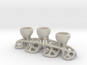 Arc Candle Holder (triple) in Natural Sandstone