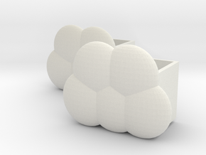 Cloud storage box in White Natural Versatile Plastic