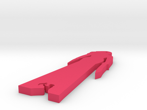 Wonder Woman keychain in Pink Processed Versatile Plastic