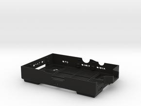 Raspberry Pi B case - bottom in Black Natural Versatile Plastic