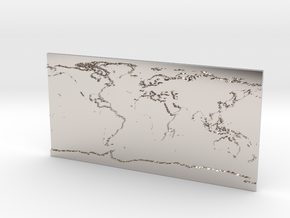 Globe Map in Rhodium Plated Brass: Small