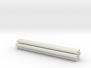 1.7 GUNSHIP TUBES in White Natural Versatile Plastic