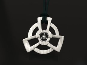 Radioactive pendant - original in Polished Nickel Steel: Medium
