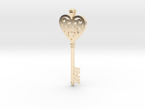 heartkey-new in 14k Gold Plated Brass