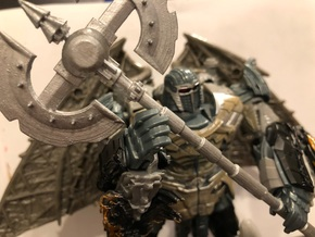 tf5 knights 2 Handed Axe in Smooth Fine Detail Plastic