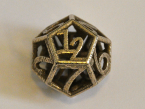 D12 Balanced - Numbers Only in Stainless Steel