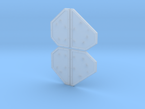 Armor Plates - Undecorated in Smooth Fine Detail Plastic