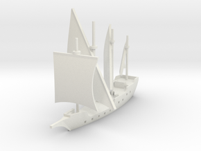 1/700 Caravela de Armada version 1 in White Natural Versatile Plastic