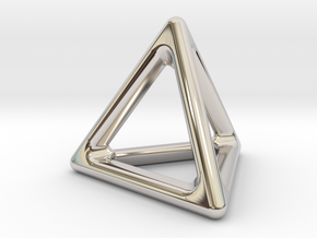 Simply Shapes Pendants Triangle in Rhodium Plated Brass