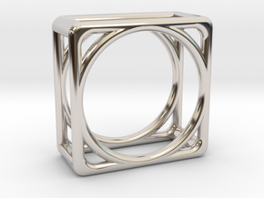 Simply Shapes Pendants Cube in Platinum
