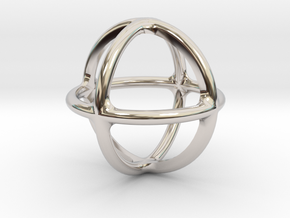 Simply Shapes Pendants Circle in Rhodium Plated Brass