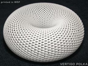 Spiral Torus Mesh 110mm in White Natural Versatile Plastic