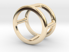 Simply Shapes Rings Circle in 14k Gold Plated Brass: 3.25 / 44.625