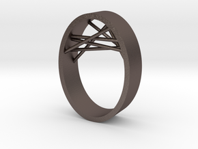 Agguvo_ring_18.5 in Polished Bronzed Silver Steel