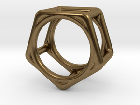 Simply Shapes Rings Pentagon in Natural Bronze: 3.25 / 44.625