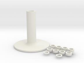 Holder in White Natural Versatile Plastic