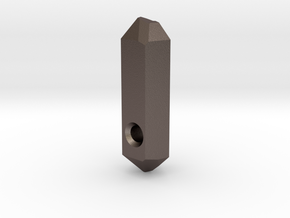 Go Geometric Pendant Keeper in Polished Bronzed Silver Steel
