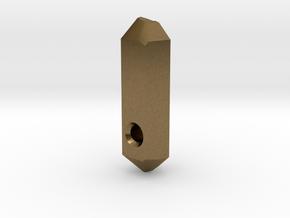 Go Geometric Pendant Keeper in Natural Bronze
