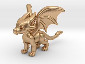 Cynder the Dragon Pendant/charm in Natural Bronze