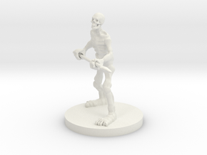 Skeleton with a Spear in White Natural Versatile Plastic