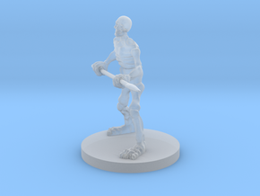 Skeleton with a Spear in Smooth Fine Detail Plastic