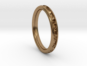Destroyed ring - Size 9 in Natural Brass