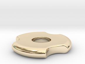 Fidget Spinner in 14k Gold Plated Brass