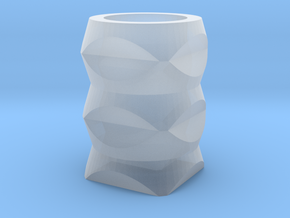Geometric Vase in Smooth Fine Detail Plastic