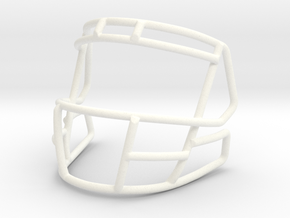 Live Mask 808 for Speed Mini Helmets  in White Strong & Flexible Polished