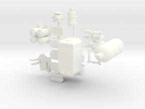 ProMod 1/12 interior pkg 3 in White Processed Versatile Plastic