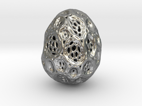 DRAW geo - alien egg 2 in Natural Silver: Small