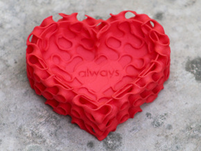 Gyroid Heart Bowl Mini - always in Red Processed Versatile Plastic