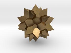 Go Geometric Homeware Star in Natural Bronze: Small